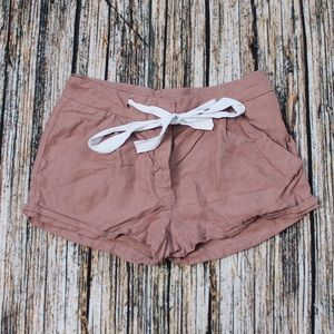 Wilfred Aritzia Brown Canvas Shorts Size 0